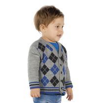 Cardigan Cinza - Bebê Menino -Trcô