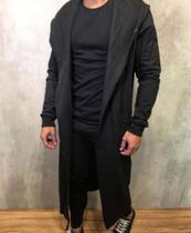 Cardigan masculino longo