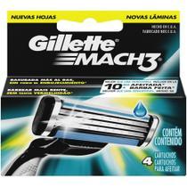 Carga de Aparelho Gillette Mach3 Regular Pct/ 4 unidades