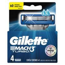Carga de Aparelho Gillette Mach3 Turbo 4 unidades