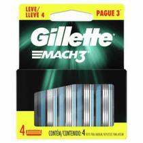 Carga de aparelho para barbear gillette mach3 leve 4 pague 3 unidades