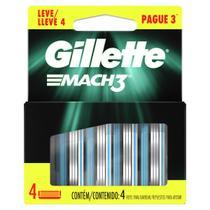 Carga Gillete Mach3 4 Unidades