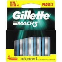 Carga Gillette Mach 3 Regular Leve 4 Pague 3 Unidades COD-169486