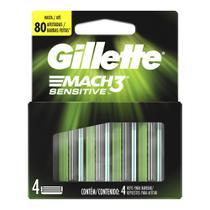Carga Gillette Mach 3 Sensitive Com 4 Unidades