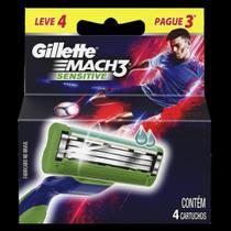 Carga Gillette Mach3 Sensetive Embalagem com 4 Unidades