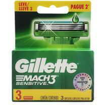 Carga Gillette Mach3 Sensitive Leve 3 Pague 2