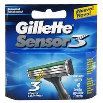 Carga Gillette Sensor 3 c/ 4 Unidades