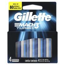 Carga para Aparelho de Barbear Gillette Mach3 Turbo 4 Unidades