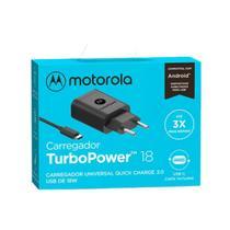 Carregador Moto G9 Play G9 Plus Moto G9 Power 18w Turbo
