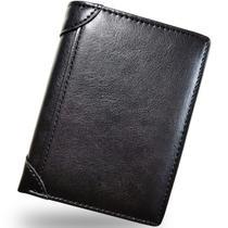 Carteira Masculina Vertical Premium Cartão Barata Couro PU