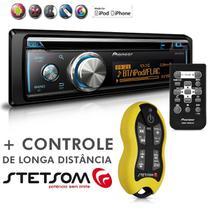 Cd Player Mixtrax DEH-X8780BT Usb Mp3 Bluetooth Android IOS + Controle Longa Distância SX2 Amarelo