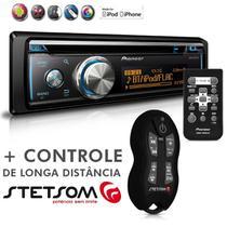 Cd Player Mixtrax DEH-X8780BT Usb Mp3 Bluetooth Android IOS + Controle Longa Distância SX2 Preto