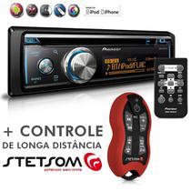 Cd Player Mixtrax DEH-X8780BT Usb Mp3 Bluetooth Android IOS + Controle Longa Distância SX2 Vermelho