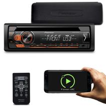 CD Player Pioneer DEH-S1180UB 1 Din Interface Android Mixtrax MP3 USB CD AUX RCA Com Controle