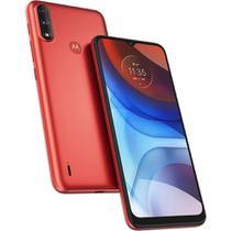 Celular Motorola Moto E7 Power 32GB Barato Tela 6.5 Octacore Câmera 13MP+2MP Menor Preço Vermelho