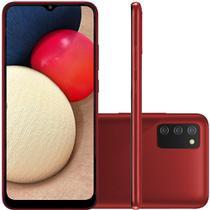 Celular Samsung Galaxy A02s Vermelho 32GB Tela 6.5 3GB RAM Camera 13MP 2MP 2MP
