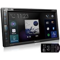 """Central Multimídia Pioneer AVH-Z5280TV 2 DIN DVD Tela Touch 6,8"""" USB BT TV Digital"""