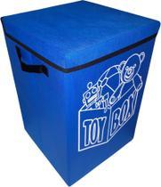 Cesto Porta Brinquedo, Caixa De Brinquedo - Azul