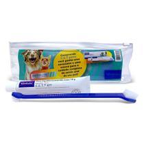 CET Higiene Oral Pasta Enzimatica + Kit Necessaire Escova Virbac