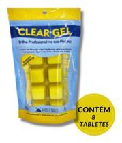 clear gel brilho profissional em sua piscina contem 8 unid. - maresias