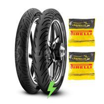 Combo Pirelli 60/100-17 + 80/100-14 Super City Biz + Câmaras