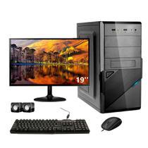 "Computador Corporate I3 8 Gb de Ram Hd 500 Gb Monitor 15"" Kit Multimídia Dvdrw"
