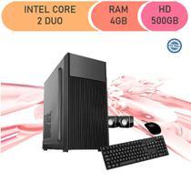 Computador Corporate Intel Core 2 Duo E8400 4gb de Ram Hd 500 Gb Kit Multimídia