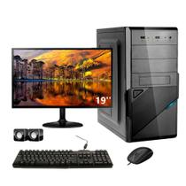 Computador Corporate Intel Dual Core 4gb Hd 500 Gb Kit Multimídia Monitor 19