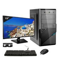 Computador Icc Intel Core 2 Duo E8400 4gb de Ram Hd 500 Gb Kit Multimídia Monitor 19