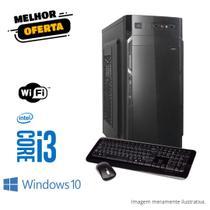 Computador Pc Cpu Intel Core I3 4gb hd 500 gb Windows 10 (1ª Geração)