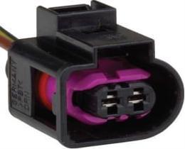 Conector 2 vias regulador volante e buzina linha vw  - tc1021178