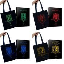 Conjunto 4 Livros Harry Potter E A Pedra Filosofal Capa Dura + Ecobag