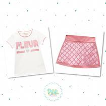 Conjunto Menina Milon Blusa Cotton Short-Saia Moletom Leve