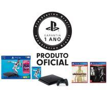 Console Playstation 4 1TB Bundle Fifa 19 + 2 Jogos Hits + Controle Dualshock 4 Preto - PS4