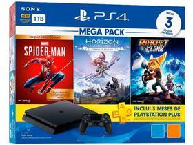 Console PlayStation 4 Mega Pack Hits V15 1TB Com 3 Jogos