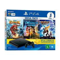 Console PlayStation 4 Slim 1TB + 3 Jogos + 3 Meses Playstation Plus (Mega Pack Family) - Sony