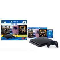Console Playstation 4 Slim 1TB Hits Bundle v5.1 + 3 Jogos - PS4