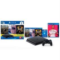 Console Playstation 4 Slim 1TB Hits Bundle v5.1 + FIFA 20 - PS4