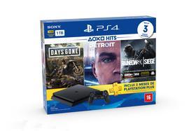 Console Playstation 4 Slim 1TB Hits Bundle v5 + 3 Jogos - PS4