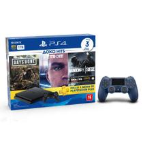 Console Playstation 4 Slim 1TB Hits Bundle v5 + Controle Dualshock 4 Azul - PS4