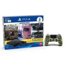 Console Playstation 4 Slim 1TB Hits Bundle v5 + Controle Dualshock 4 Camuflado - PS4