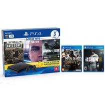 Console Playstation 4 Slim 1TB Hits Bundle v5 + Metal Gear Survive + MLB The Show 18 - PS4