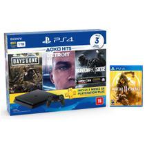 Console Playstation 4 Slim 1TB Hits Bundle v5 + Mortal Kombat 11 - PS4