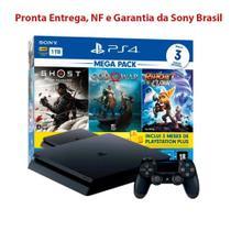Console Playstation 4 Slim Mega Pack 3 Jogos Hits V18 - Sony