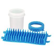 Copo Limpador Limpa Patas de Cachorro Azul