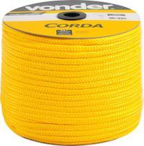Corda Multifilamento Trançada 10mm 190m Amarela Carretel - Vonder