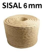 Corda Sisal Natural 6mm Artesanato Uso Geral 30 Metros