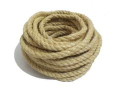 Corda Sisal Natural Resistente Acabamento Fino 10mm 15 Mts
