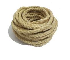 Corda Sisal Natural Resistente Acabamento Fino 10mm 20 Mts
