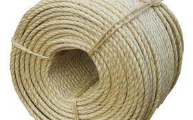 Corda Sisal Natural Resistente Acabamento Fino 10mm 50 Mts